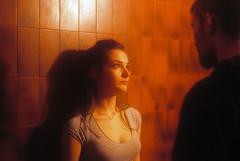 (Nothing is surrender) Tags: girl woman light portrait bar cinema film serbia srbija nikonf90 nikon f90 novisad