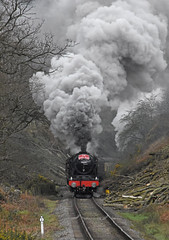 LMS No.46100 'Royal Scot' southbound through Beck Hole [NYMR] on 2nd April 2017 (soberhill) Tags: northyorkshiremoorsrailway nymr lms 46100 royalscot grosmont pickering railway steam train locomotive beckhole waterark 2017
