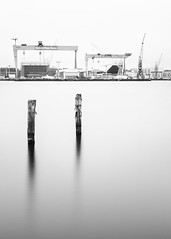 HDW I_bw (Luziferian) Tags: kiel morning harbor cranes navalyard hdw shipyard water sea longexposure langzeitbelichtung movement blackandwhite schwarzweis noiretblanc blancoynegro schleswigholstein germany landscape seascape urbanlandscape
