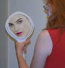 The Magic Mirror (swong95765) Tags: mirror woman female lady seeing desire pretty face wants needs