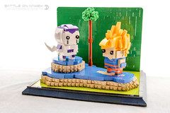 Battle on Namek (dvdliu) Tags: lego moc brickheadz dragon ball z super saiyan goku frieza battle namek