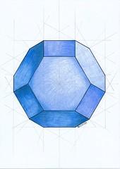 20170206_0001 (regolo54) Tags: polyhedra solid geometry symmetry handmade mathart regolo54 escher hexagon circle pencil