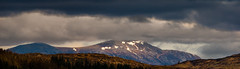 The hills north of Pitlochry from Birnam Hill (grahamrobb888) Tags: nikon nikond800 sigma120400mm sigma scotland birnam dunkeld highlands hill snow clouds menacing contrast