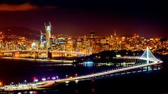 San Francisco Skyline (photogism) Tags: michelleprevost sanfrancisco baybridge night