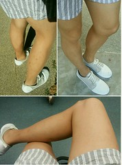 07.04.17 - Propeds Elegant All Sheers pantyhose, Suntan shade, with Uniqlo women's relaco shorts, dark grey. (leodumlao) Tags: propedspantyhose 20denier sheertowaistsupportpantyhose meninpantyhose tanpantyhose hoseandshorts
