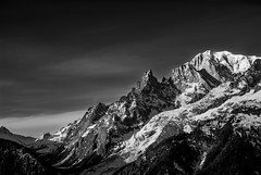 Mont Blanc (Luca Cambriglia) Tags: italy courmayeur montblanc blackandwhite black white mountain nature rock snow zoom tele sky cloud adventure explore beauty art life winter nikon nikkor peak france d60