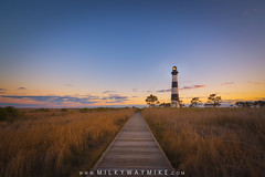 Bodie Island Light Boardwalk (Mike Ver Sprill - Milky Way Mike) Tags: sunset sunrise boardwalk board walk path pathway walkway way tall wheat grass wetlands marsh bodie island lighthouse light house colorful vibrant nags head national park seashore east coast north carolina surreal serene peaceful gorgeous beautiful landscape mike ver spprill