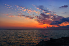 tramonto calabrese (orsolademaio) Tags: sunset tramonto calabria sud mare cielo canon600d