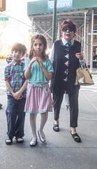 New York Gothic (UrbanphotoZ) Tags: family mother brother sister sidewalk scaffold citibank silverslippers metalicpocketbook shades shy sheepish posing upperwestside manhattan newyorkcity newyork nyc ny