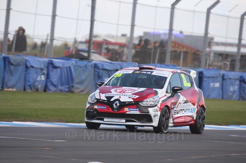 Paul Streather in Clio Cup qualifying during the BTCC Weekend at Donington Park 2017: Saturday, 15th April
