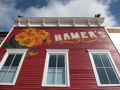 Hamer's (Mr. Happy Face - Peace :)) Tags: facade albertabound yyc art2017 red sky cans2s hww 7dwf crazytuesdays wtbw crazywindows