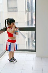 Go Go Go~ (Zorie Huang) Tags: morning light portrait baby cute girl canon asian kid child innocent taiwan cheerleader lovely taiwanese threeyearold 550d zorie mondayblue