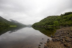 By the Loch (DCity19) Tags: morning camping cloud lake mountains reflection beach water landscape mirror scotland highlands view scottish overcast pebbles surface hills loch leven kinlochleven