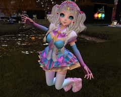 BR Kemono Fashion #07 (Magnus Vale) Tags: blue cute colors stockings girl rose garden br bright bare secret ombre sugar nails gradient m3 magical stardust rin platforms hideout armwarmers ruffle tsg tsh niju bbmm so kemono pomf {so cute}