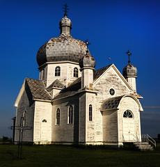 St Mary's Ukrainian Catholic Church (TigerPal) Tags: abandoned church rural nikon catholic dome prairie saskatchewan plains ukrainian ruraldecay sask gravelroad dustyroad alvena uniate d700 stmarysukrainiancatholicchurch