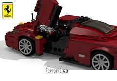 Ferrari Enzo Berlinetta (lego911) Tags: auto birthday 2002 italy sports car model italian lego render ferrari enzo 7th coupe supercar challenge cad sportscar lugnuts povray 84 v12 moc berlinetta ldd vivaitalia miniland midengine lego911 lugnutsturns7or49indogyears