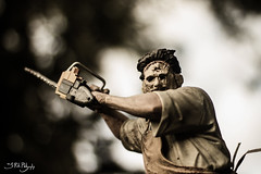 Come out Swingin' (3rd-Rate Photography) Tags: canon movie toy 50mm florida action leatherface chainsaw 7d figure horror jacksonville texaschainsawmassacre mcfarlanetoys toyphotography earlware 3rdratephotography