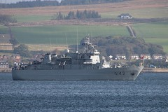 LNS Jotvingis (N42) (corax71) Tags: clyde boat support marine war ship force exercise military navy vessel class maritime warrior shipping command 142 joint lithuanian nato forces warship armedforces firth armed vidar firthofclyde n42 minelayer lns knm n52 armedforce hnoms knmvidar jointwarrior exercisejointwarrior lithuanianarmedforces jotvingis lithuaniannavy lithuanianmilitary jointwarrior142 exercisejointwarrior142 lnsjotvingis vidarclassminelayer hnomsvidar vidarclass knmvidarn52 vidarn52 commandandsupport lithuanianforces vidarclasscommandandsupportvessel vidarclasscommandandsupportship lnsjotvingisn42 jotvingisn42 hnomsvidarn52