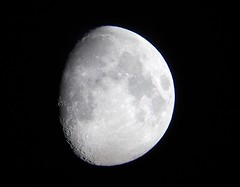 Waxing Moon 4th October 2014 (David Blanchflower) Tags: sky moon night space astronomy waxing