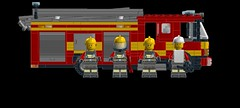fire engine 2 DFRS firefighters (the tomtom) Tags: fire lego engine pump ladder appliance moc