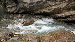 Erosion in Progress (JB by the Sea) Tags: canada water rockies alberta banff rockymountains banffnationalpark canadianrockies johnstoncanyon johnstoncreek johnstonfalls september2014
