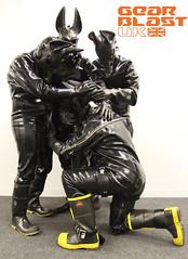 Rubber Jackals (gearblastuk) Tags: wild boots rubber gloves gasmasks jackals gearfetish rubbah rocketpup rubbot scubaccs rubcovr rubbotpup rubberwulf s10boi gearblastuk