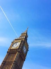 Elizabeth Tower (evrythincool) Tags: uk sky building london tower architecture big ben perspective landmark iphone 5s vsco