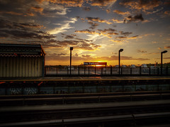 2014-09-07 - 001-007 - HDR (vmax137) Tags: new york city nyc sunset ny station brooklyn subway bay line panasonic parkway hdr bensonhurst culver 2014 dmcgh2