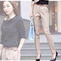 กางเกงทำงาน แฟชั่นเกาหลีผู้หญิงทรงสวยใหม่ นำเข้า ไซส์Sถึง2XL พรีออเดอร์MI533 ราคา995บาท กางเกง แบบใหม่สวยแฟชั่นเกาหลีด้วยกางเกงทำงานทรงสวยใส่ทำงานเป็นชุดฟอร์มพนักงาน ชุดทำงาน รูปแบบ ทรงการตัดสวยทันสมัยแบบสไตล์เรียบร้อยใส่สบาย สวยไม่ซ้ำแบบใคร ตัดเย็บสวยงาน