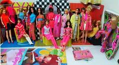 My little dolly nook today (ModBarbieLover) Tags: mod stacey julia barbie pj christie tnt