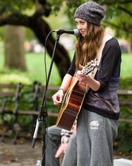 Washington Square Park (Diacritical) Tags: nyc woman newyork girl manhattan washingtonsquarepark talent singer 90mm 2014 f24 iso500 worldwidephotowalk wwpw ¹⁄₁₂₅sec aposummicronm1290asph leicamtyp240 wwpw2014