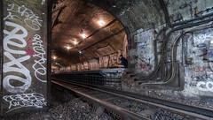 The Trackening (dickytwentyone) Tags: metro urbanexploration trespass parismetro parisunderground parisgraffiti stmartinstation