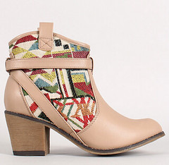 "aztec panel cowboy bootie taupe • <a style=""font-size:0.8em;"" href=""http://www.flickr.com/photos/64360322@N06/15372890058/"" target=""_blank"">View on Flickr</a>"