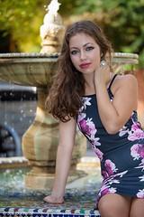 (Joe Bonfante Photography) Tags: flowers trees red colour fountain grass youth model glamour pretty gorgeous chloe sensual teen stunning teenager greenery modelling redridinghood glamorous chloecanepaphotoshoot