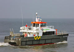CTV SURE PRIDE in front of Cuxhaven / Offshore Crew Transfer Vessels for Wind Farms - CTV (cuxclipper ) Tags: cat boot boat tender watertaxi cuxhaven katamaran wassertaxi offshorewind versorger elbeship surepride