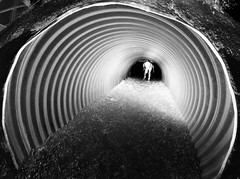 X-Ray Tunnel (Casey Lombardo) Tags: blackandwhite bw abstract surreal tunnel negative portal reverse tunnels concentric twilightzone concentricrings nikond5100