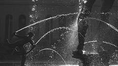 Poseidon's feet (hasor) Tags: bw water statue gteborg gothenburg poseidon contrejour