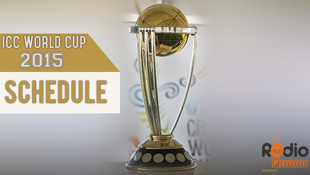 ICC World Cup 2015 Fixture , Schedules & Timetable