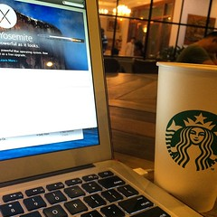 Up dating my Mac to Yosemite thanks to Starbucks awesome fast internet! #upsticksandgo #starbucks #hanoi #fastinternet #atravellerslife #travel #travelgram #travellingtheworld #Vietnam #michfrost (UpSticksNGo) Tags: travel vietnam starbucks hanoi fastinternet travellingtheworld travelgram upsticksandgo michfrost atravellerslife