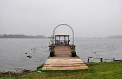 Candia Canavese (Gatodidi) Tags: italy torino lago italia pasarela embarcadero turin niebla candia canavese