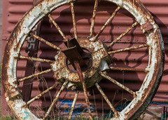 Wheel (andycmfs) Tags: colour wheel highcontrast trainstation dslr infocus reservior highquality chasewater nikond5300 nikon18mm140mmf35