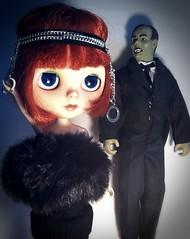 Blythe-a-Day October#11: Phantom of the Opera: Clara Bow&The Lurking Creeper