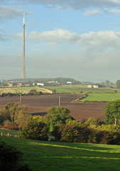 October morning in Emley (littlestschnauzer) Tags: autumn west tower weather rural countryside tv nikon october village yorkshire farming landmark farmland fields tall mast moor transmitter 2014 emley d5000