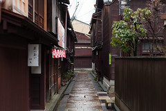 kanazawa - higashi chayamachi 2 (Doctor Casino) Tags: old city morning wet district neighborhood rainy geisha kanazawa higashichayamachi