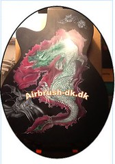 Udklip.JPG dragon copyright (Art of Galaxie Galleri) Tags: dragon guitar step airbrush