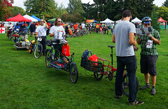 DRT Line up (Wolfram Burner) Tags: park bike baker cargo eugene relief disaster friday emergency burner alton trials eugeneoregon response fema drt bikefriday altonbaker wolfram resilency eugenedrt