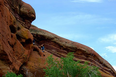 "People sitting atop huge Red Sandstone formation • <a style=""font-size:0.8em;"" href=""http://www.flickr.com/photos/34843984@N07/15520764526/"" target=""_blank"">View on Flickr</a>"