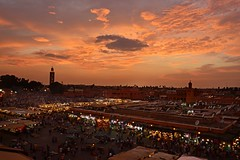 Marrakech Sunset (Kev_Barrett) Tags: city sunset architecture composition reflections landscape cityscape nightlights dusk cityscapes morocco marrakech nightshots redsky goldenhour nikond3200 d3200 originalfilter uploaded:by=flickrmobile flickriosapp:filter=nofilter flickriosapp:filter=original