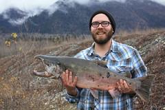 Coho (Beard&Glasses) Tags: usa alaska america canon rebel fishing unitedstates haines salmon ak xsi chilkat chilkoot 2014 coho lastfrontier