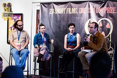 Louisiana Film Prize FLASHBACK: Robinson Film Center's Alex Kent explores the ins and outs of film press and promotion with Film Prize judges Kristy Puchko, Katie Calautti and Daniel Walber at one of our awesome (and packed) filmmaker panels.